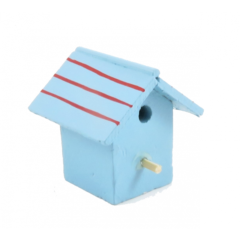 Dolls House Painted Wooden Bird House Box Miniature Garden Accessory