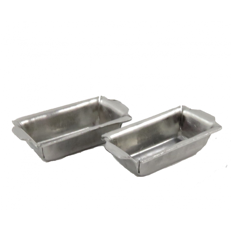 Dolls House Loaf Tin Bread Pan Miniature Kitchen Baking Accessory Pack of 2