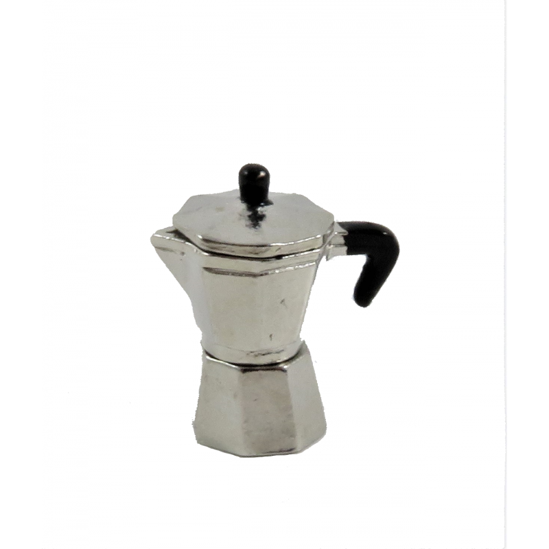 Dolls House Italian Espresso Coffee Pot Stove-Top Miniature Kitchen Accessory