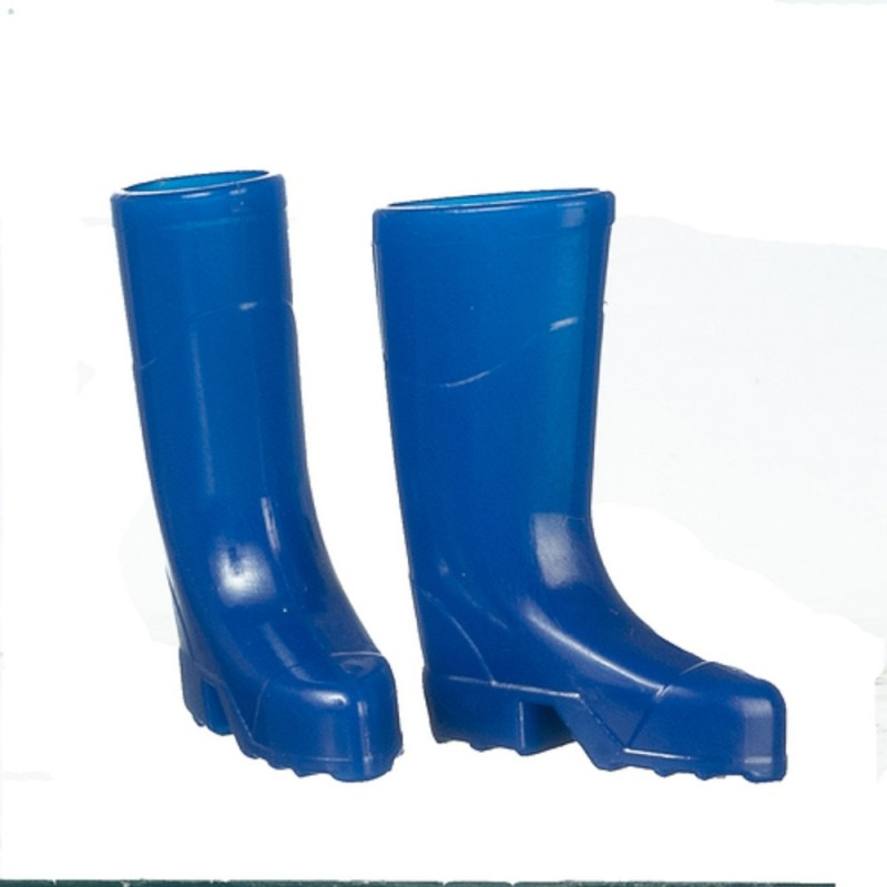 Dolls House Blue Wellington Boots Wellies 1:12 Garden Accessory
