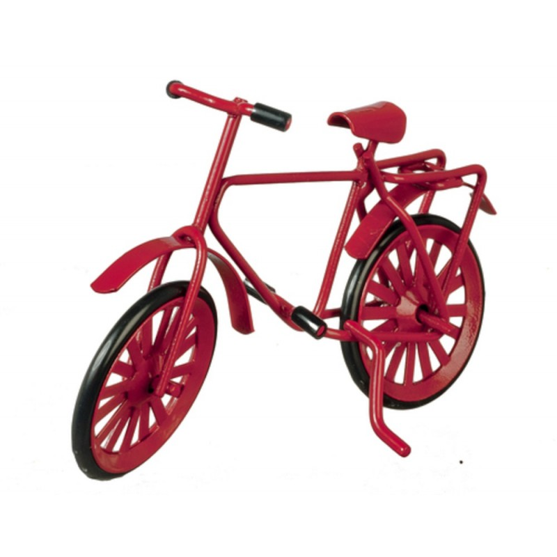 Dolls House Red Metal Bicycle Bike Miniature 1:12 Scale Garden Accessory Small