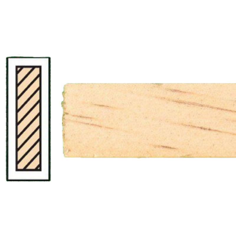 """Dolls House Timber Lengths 24 x 3/4""""  Wooden Strips 61 x 1.9 cm  Pack of 6"""
