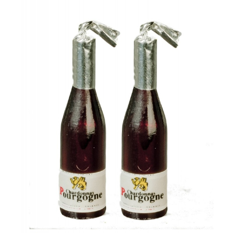 Dolls House 2 Champagne Bottles Miniature 1:12 Scale Bar Pub Accessory