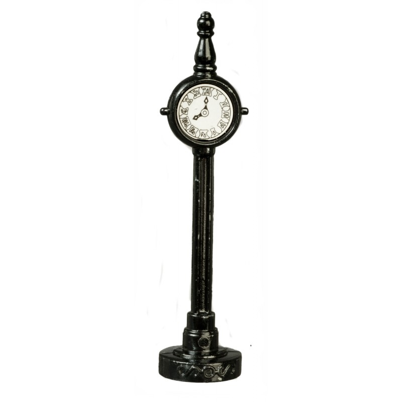 Dolls House Street Clock Half Inch 1:24 Scale Outdoor Furniture