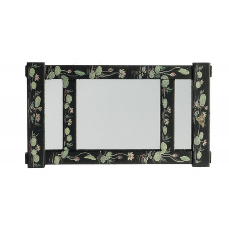Dolls House Hand Painted Wall Mirror with Hooks JBM Miniature Accessory