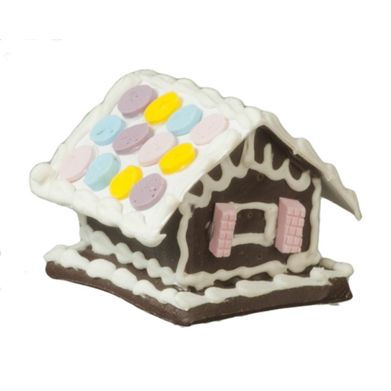 Dolls House Gingerbread House Christmas Dining Room Accessory