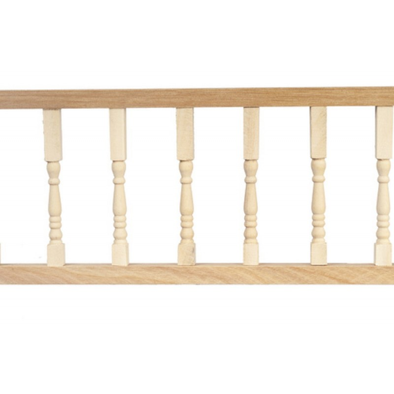 Dolls House Turned Porch Rail Miniature Builders DIY Bare Wood Set of 3