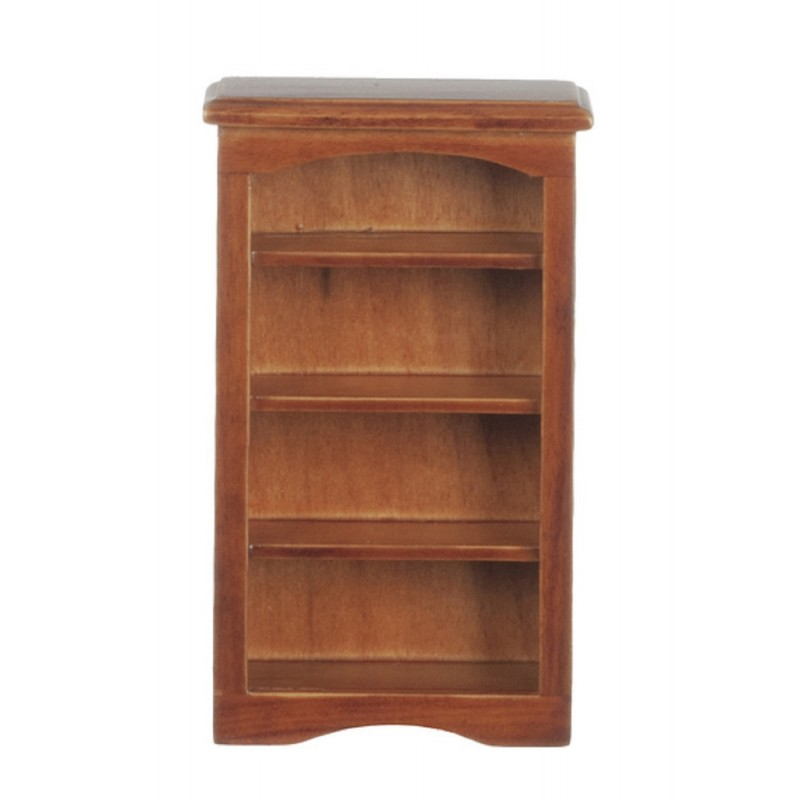 Dolls House Walnut Wooden Small Shelf Bookcase Miniature 1:12 Scale Furniture