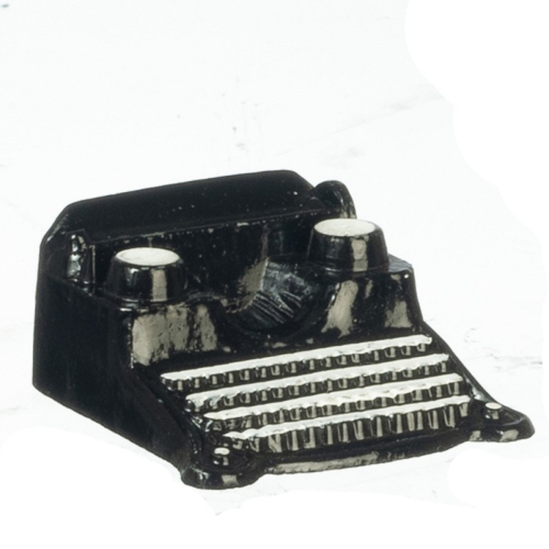 Dolls House Black & White Classic Typewriter Miniature Study Office Accessory