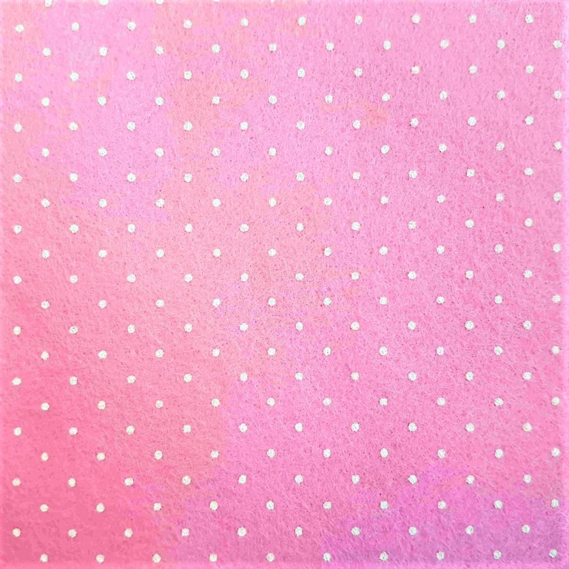 Dolls House Pink Spotted Self Adhesive Carpet Miniature Wall to Wall Flooring