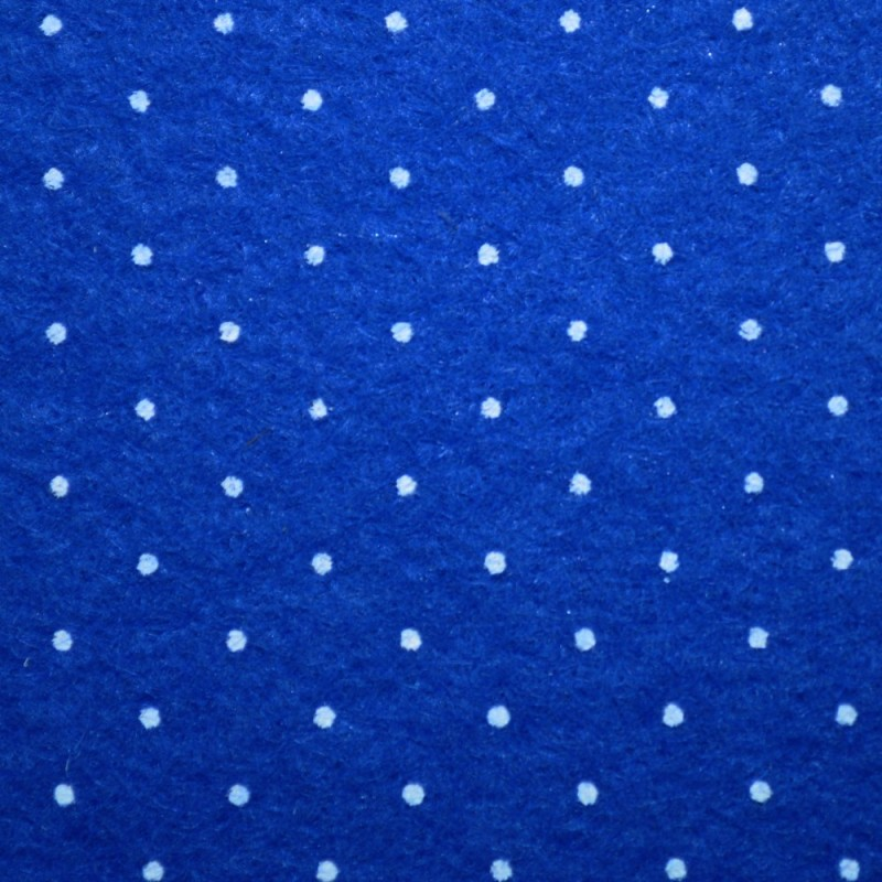 Dolls House Blue Spotted Self Adhesive Carpet Miniature Wall to Wall Flooring