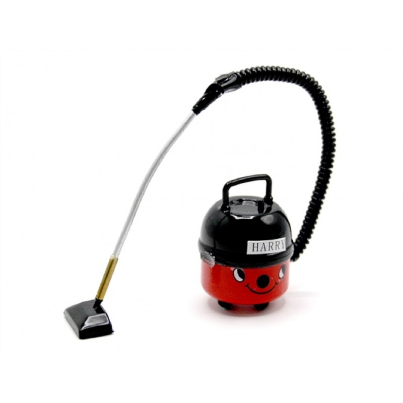 Dolls House Red Vacuum Cleaner Hoover Miniature Modern Cleaning Accessory
