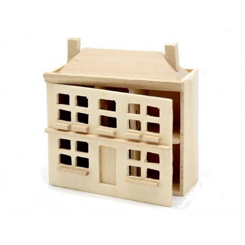 Bare Wood Dolls House for a Dolls House Miniature Unfinished Nursery Toy