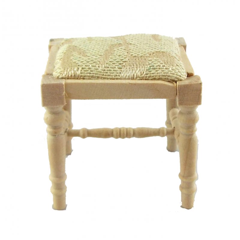 Dolls House Bare Wood Cream Dressing Table Stool Unfinished Bedroom Furniture