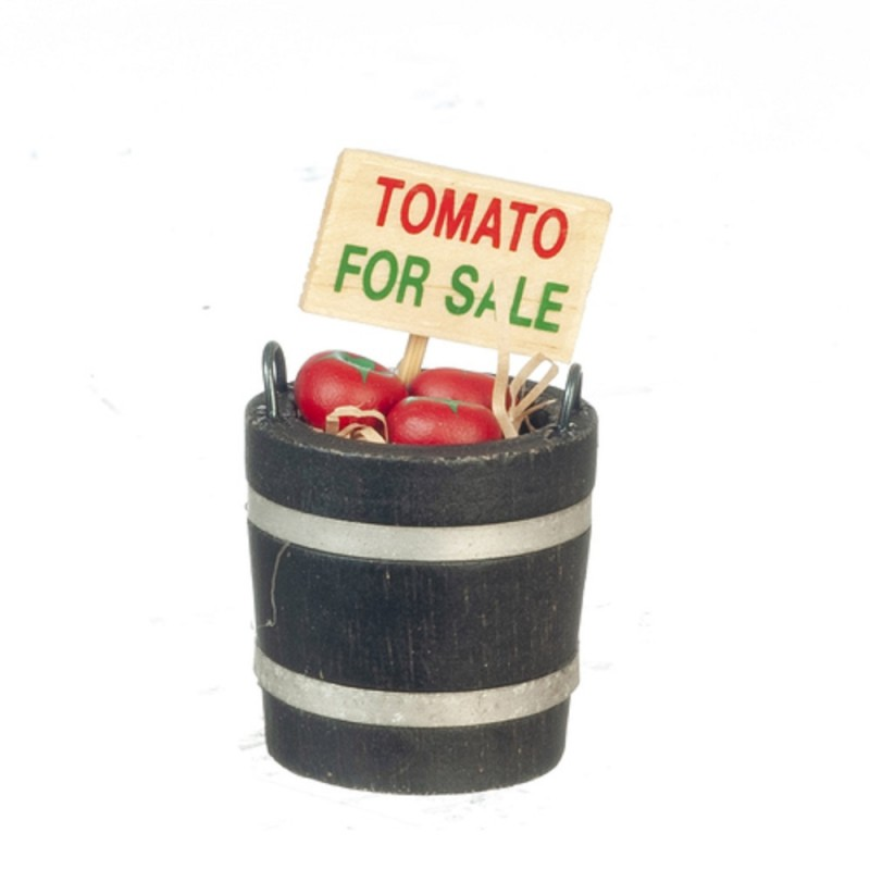 Dolls House Bucket of Tomatoes For Sale Miniature Greengrocers Shop Accessory