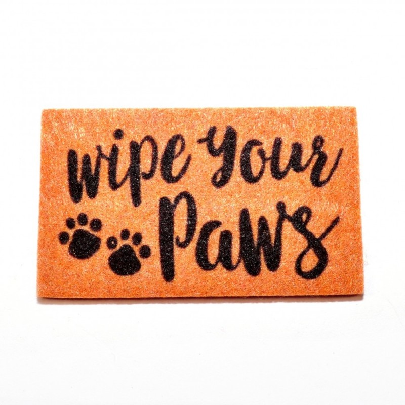 "Dolls House ""Wipe Your Paws"" Door Mat Miniature Hall Step Accessory 1:12 Scale"