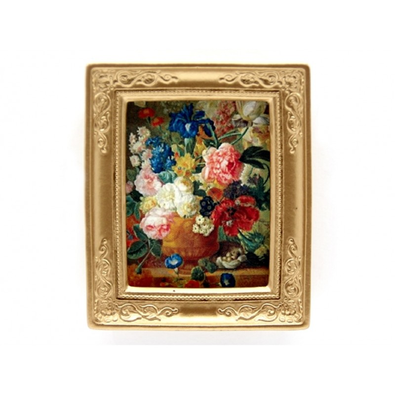 Dolls House Gold Framed Ambrosius Bosschaert Picture Floral Still Life Painting