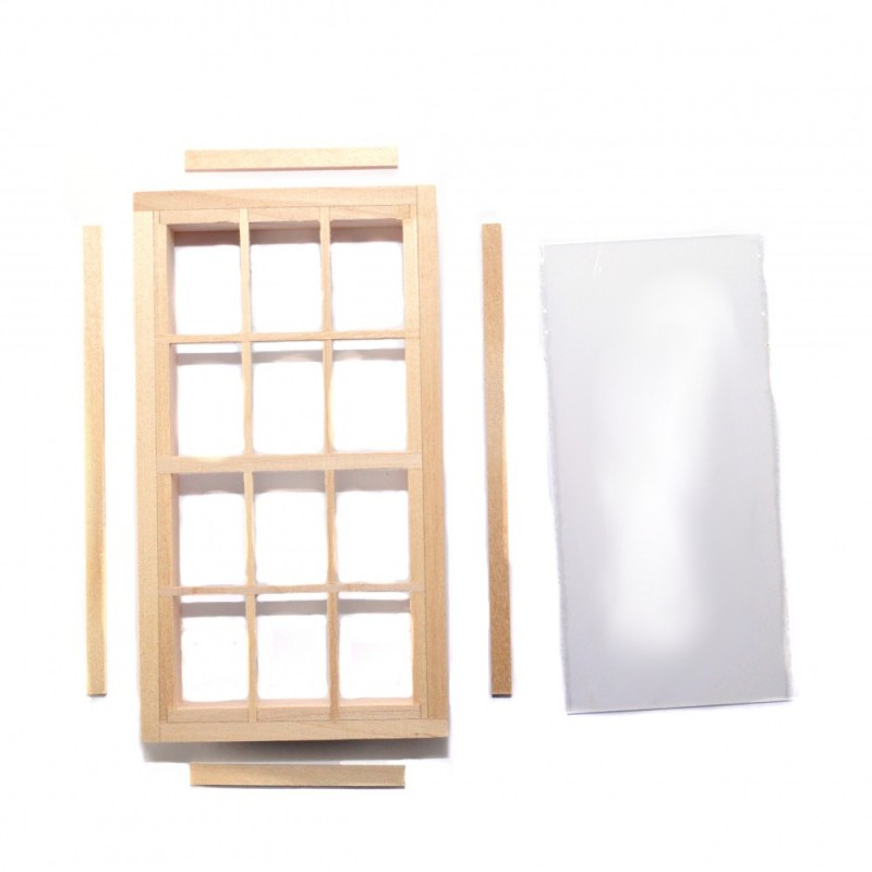 Dolls House Standard 12 Pane Window Builders DIY Spare Parts 1:12 Scale Wooden