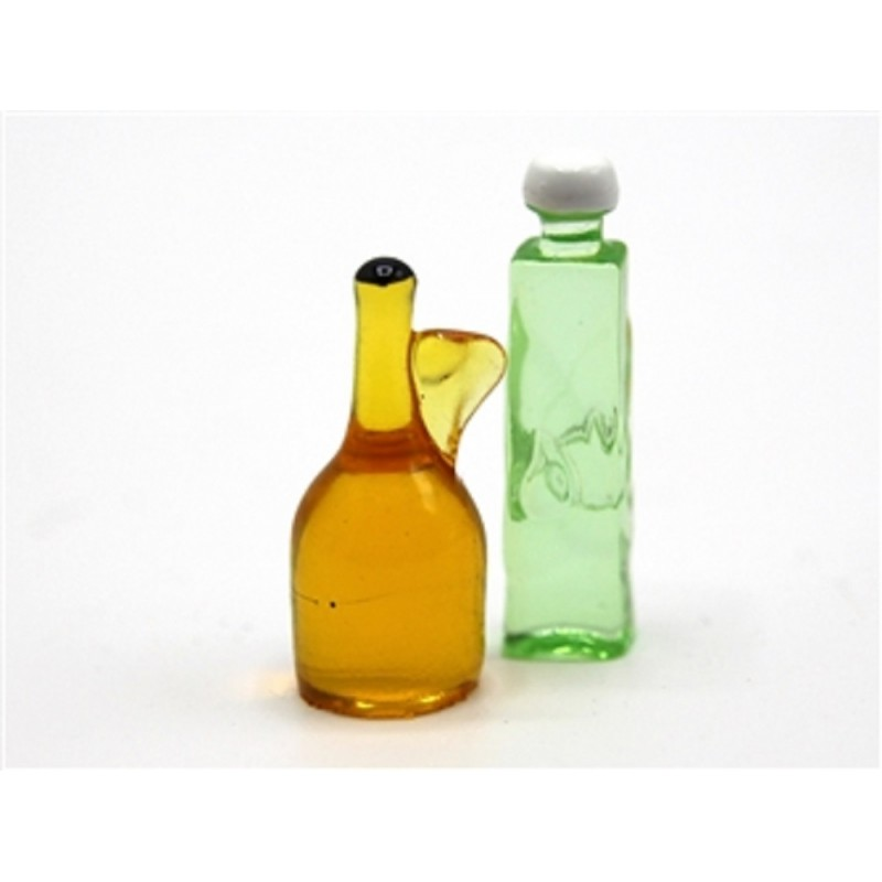 Dolls House Oil & Vinegar Bottles Miniature Dining Room Kitchen Accessory 1:12