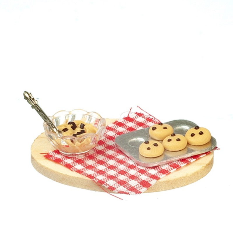 Dolls House Baking Cookies Set on Board Miniature Kitchen Food Accessory 1:12