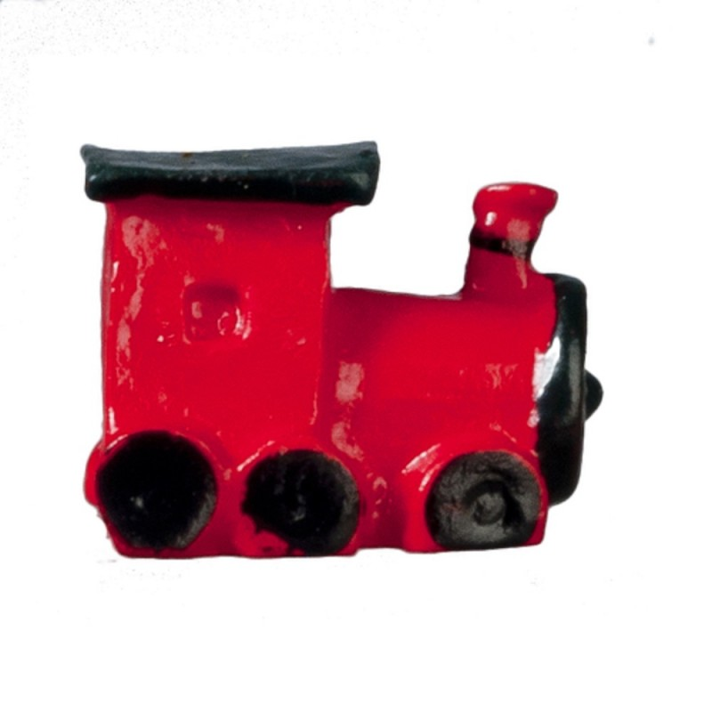 Dolls House Red Boys Toy Train Miniature Locomotive Nursery Shop Accessory 1:12