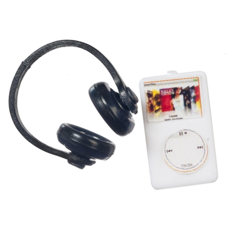 Dolls House MP3 Player with Headphones Miniature Modern 1:12 Scale Accessory