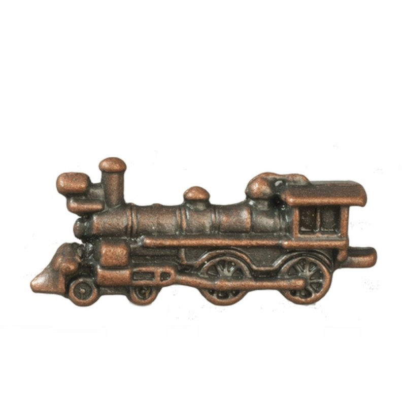Dolls House Bronze Boys Toy Train Miniature Locomotive Nursery Shop Accessory