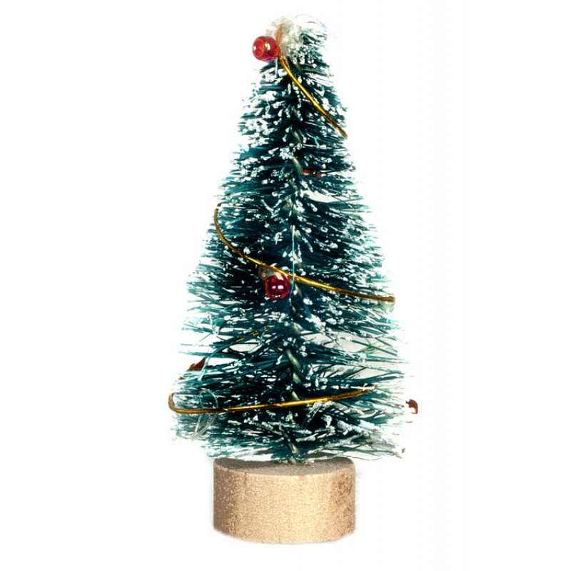 Dolls House Snowy Christmas Tree Miniature 1:12 or 124 Ornament Accessory