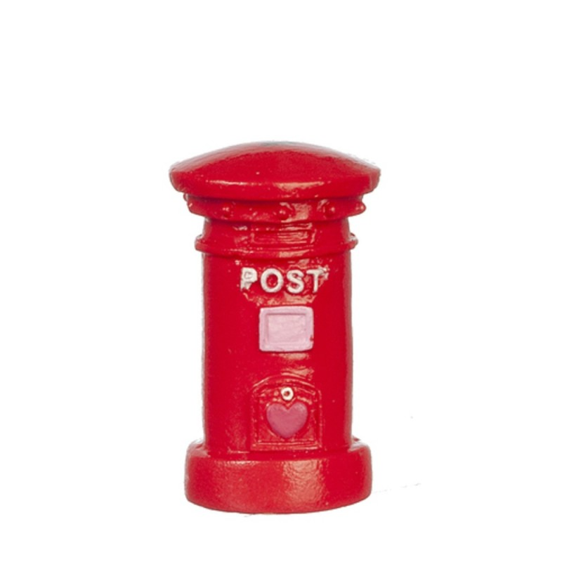 Dolls House Red British Post Office Letter Mail Pillar Box Miniature Accessory