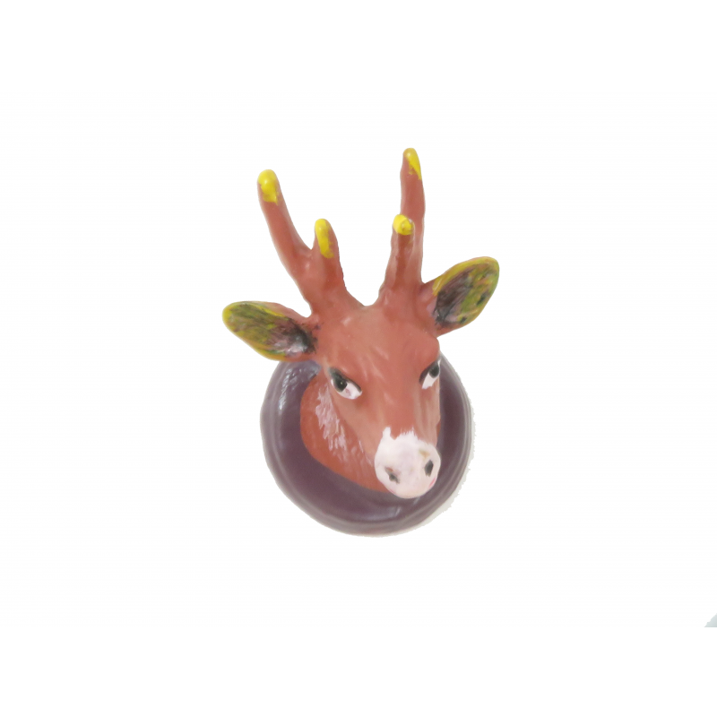 Dolls House Stag Head Wall Mount Hunting Ornament Miniature Study Den Accessory