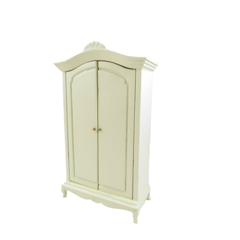 Dolls House French Style Cream Wardrobe Miniature 1:12 Bedroom Furniture