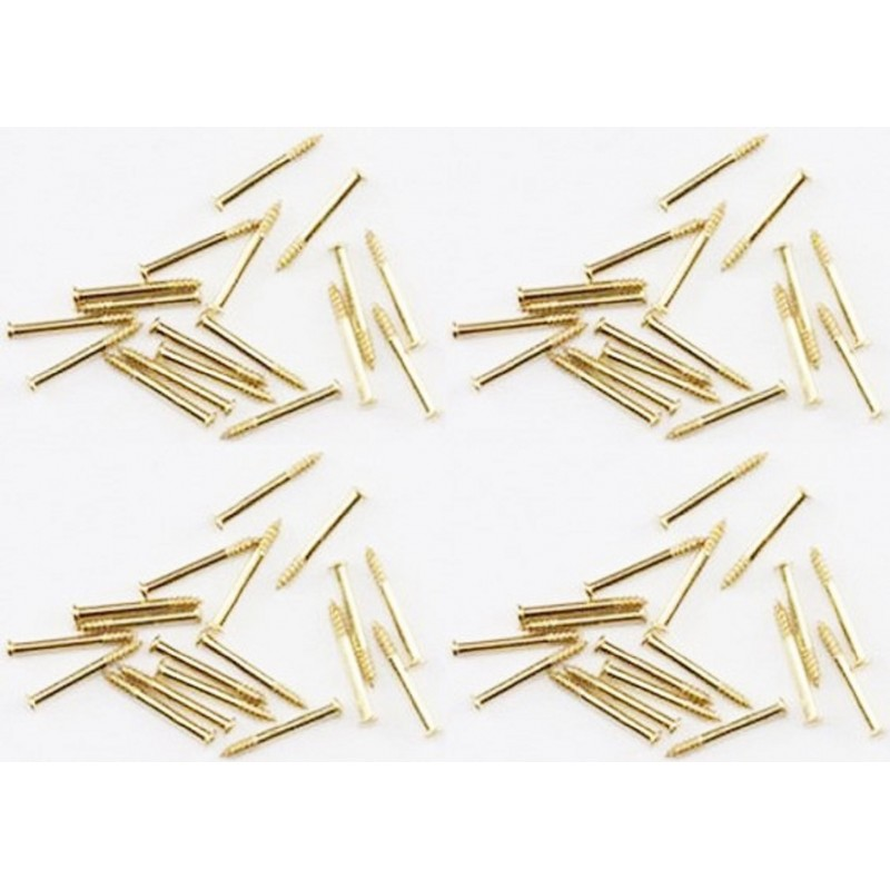 Dolls House 1/4in 6mm Brads Nails Brass Gold Miniature DIY Builders Accessory