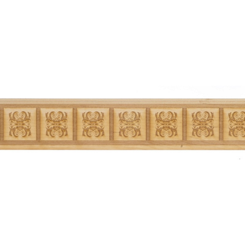 Dolls House Wainscot Interior Paneling Raised Square Centre Pattern Wainscoting