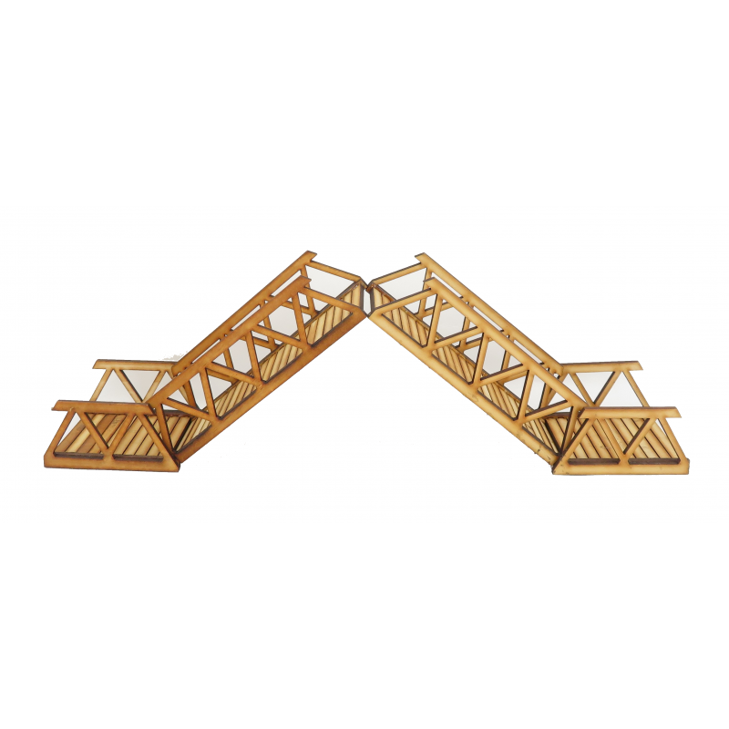 Dolls House Draw Bridge Wooden Miniature Landscaping 1:12 Garden Accessory