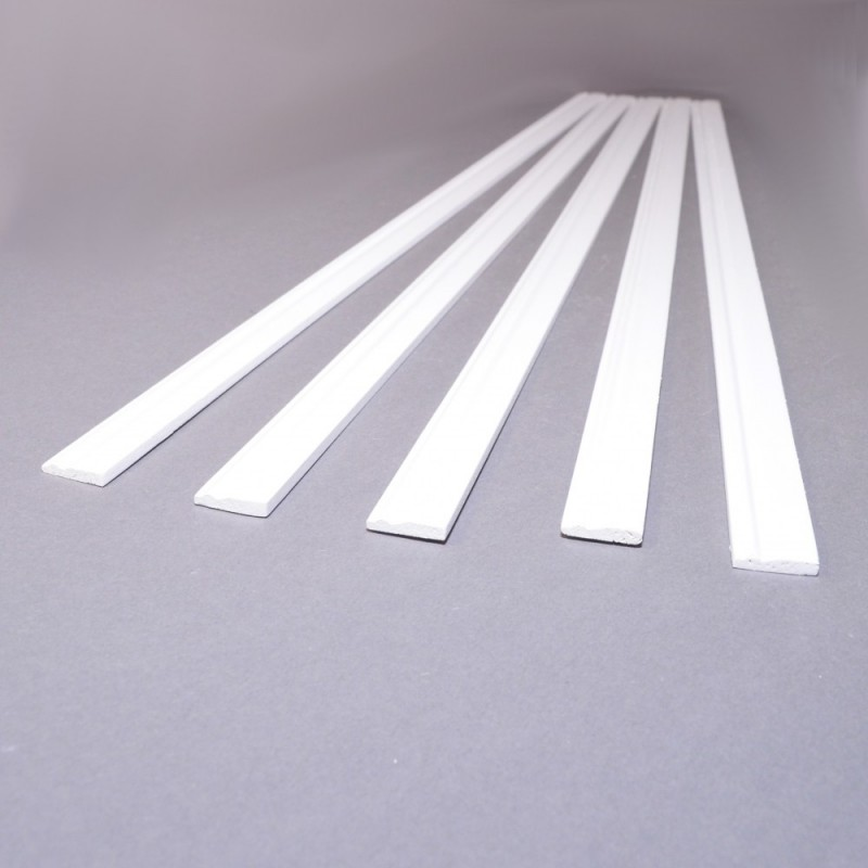 Dolls House White Skirting Board 17.3/4 X 1/8