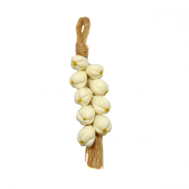 Dolls House String of Garlic Rope Vegetable Kitchen Shop Store Cafe Accessory