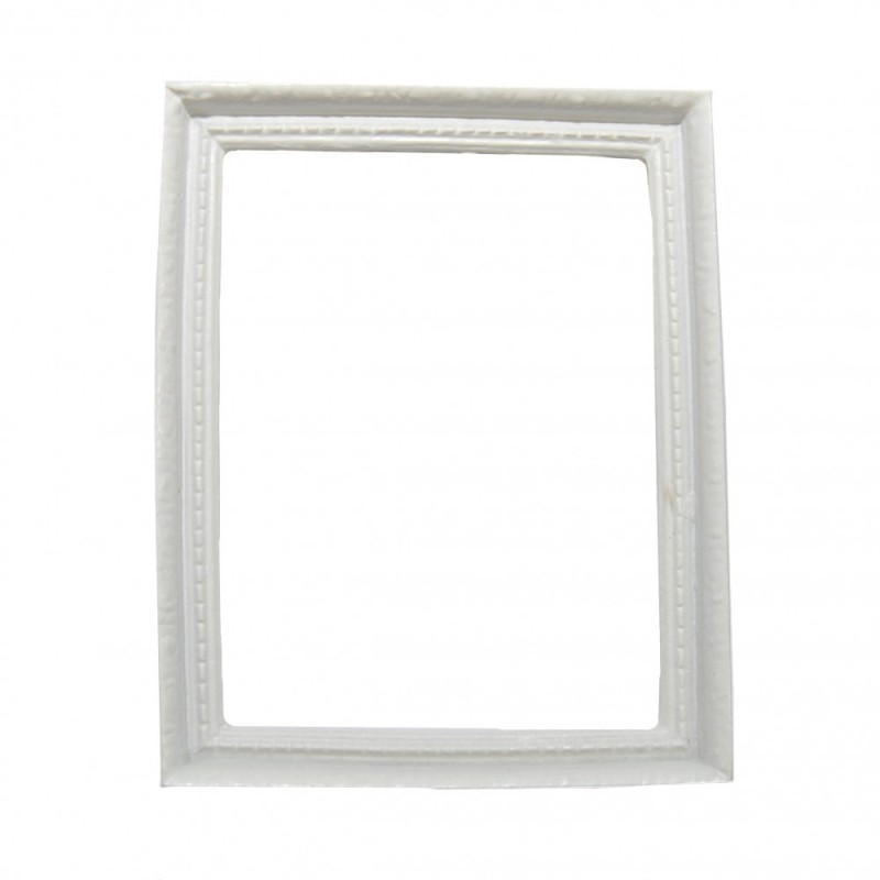 Dolls House Modern Empty White Picture Frame Large 1:12 Miniature Accessory
