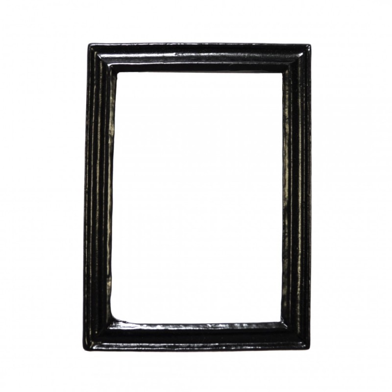 Dolls House Modern Empty Black Picture Frame Small 1:12 Miniature Accessory