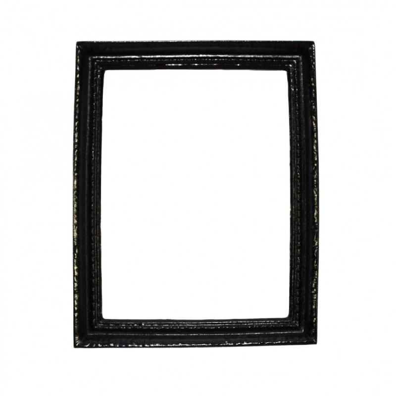 Dolls House Modern Empty Black Picture Frame Large 1:12 Miniature Accessory