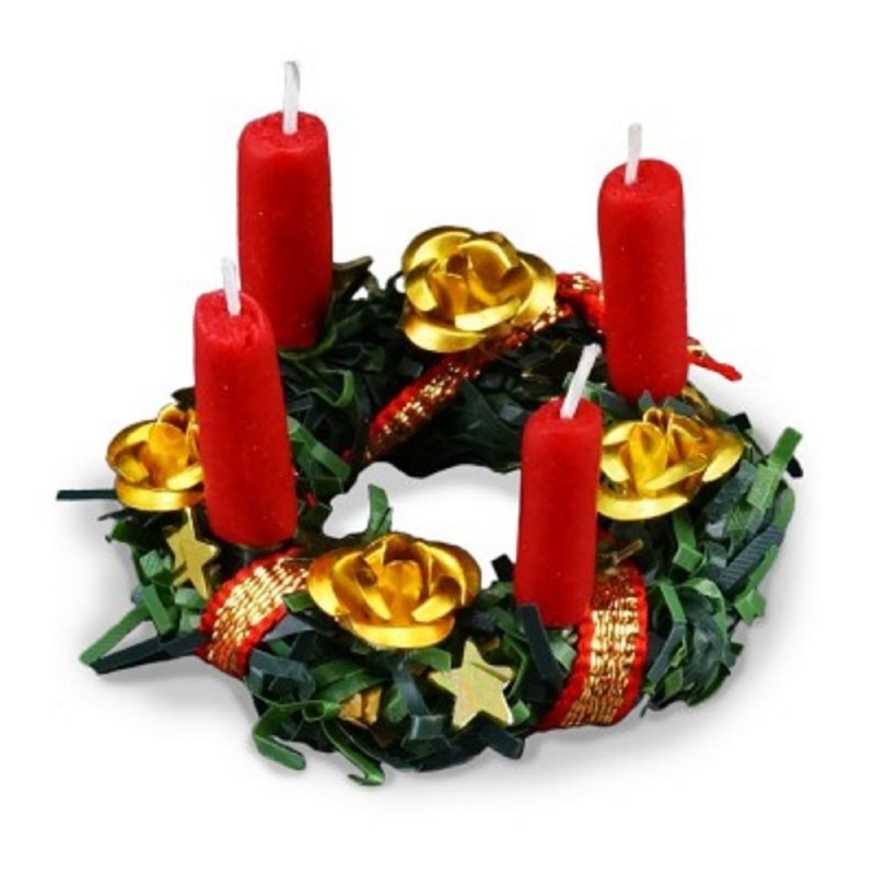 Dolls House Christmas Candle Advent Wreath Ornaments Reutter Porcelain Accessory