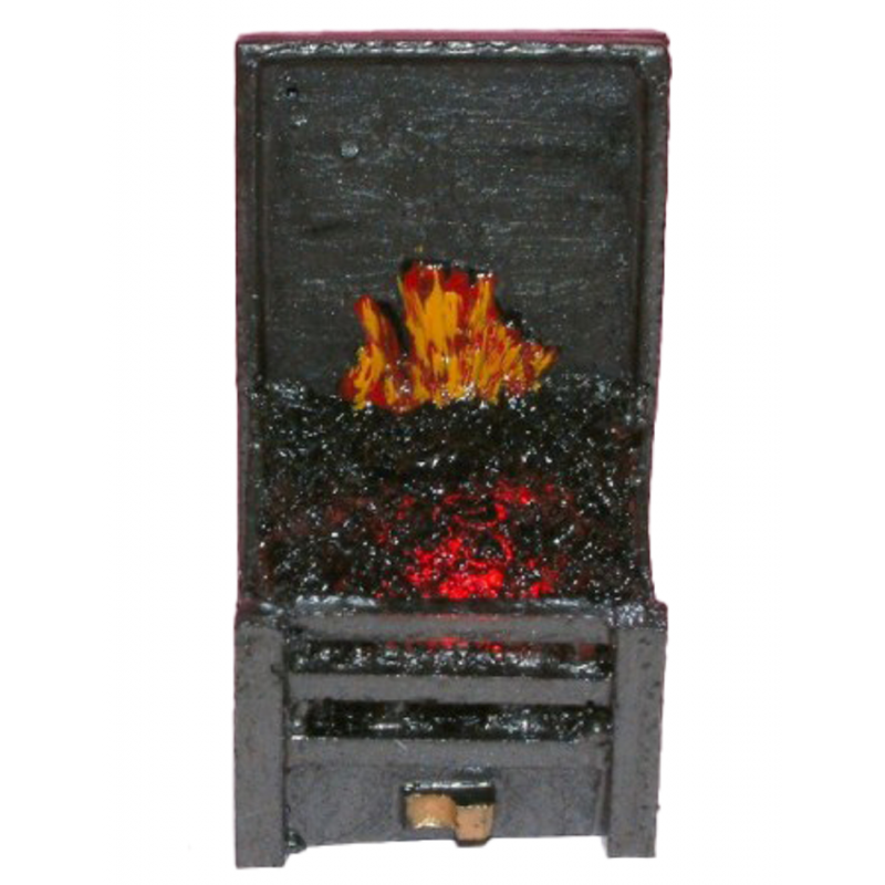 Dolls House Small Glowing Coal Fire Light up Miniature Fireplace Accessory 12V