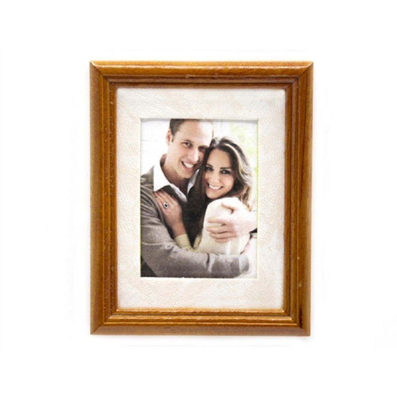 Dolls House Royal Engagement Picture Painting Walnut Frame Miniature Accessory