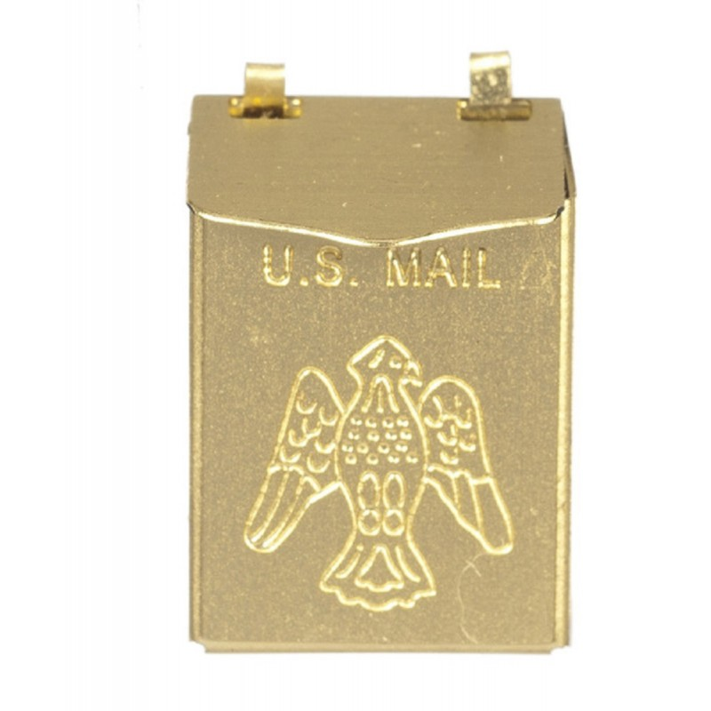 Dolls House Brass Mail Letter Box Wall Mounted Miniature 1:12 Scale Accessory