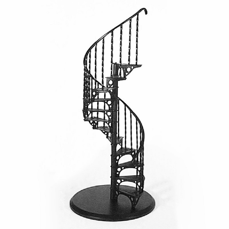 Dolls House Spiral Staircase Kit Metal 1:12 Scale Miniature Stair Case Stairs