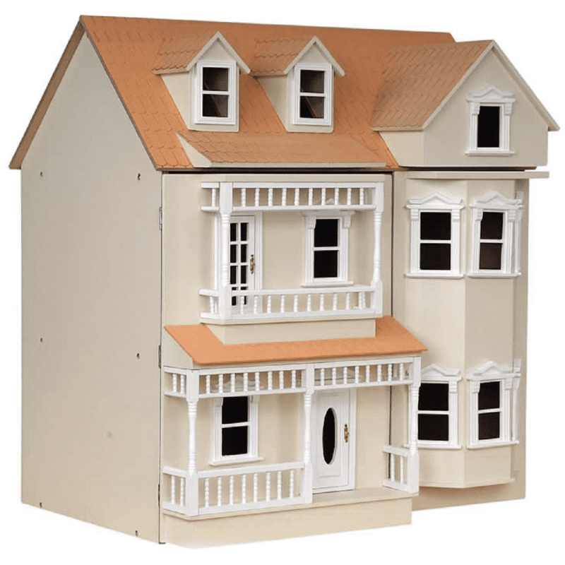 The Exmouth Dolls House Painted Flat Pack Kit 1:12 Scale