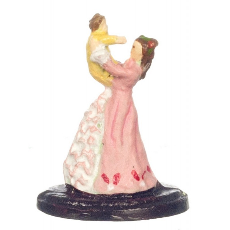 Dolls House Mother & Baby Ornament 1:12 Scale Metal Falcon Miniature Accessory
