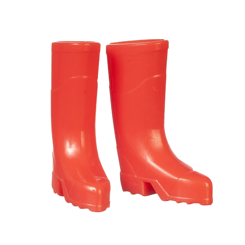 Dolls House Bright Red Wellington Boots Wellies 1:12 Garden Accessory