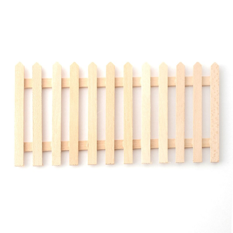 Dolls House Picket Fence Unfinished Bare Wood Panel Miniature Garden Accessory