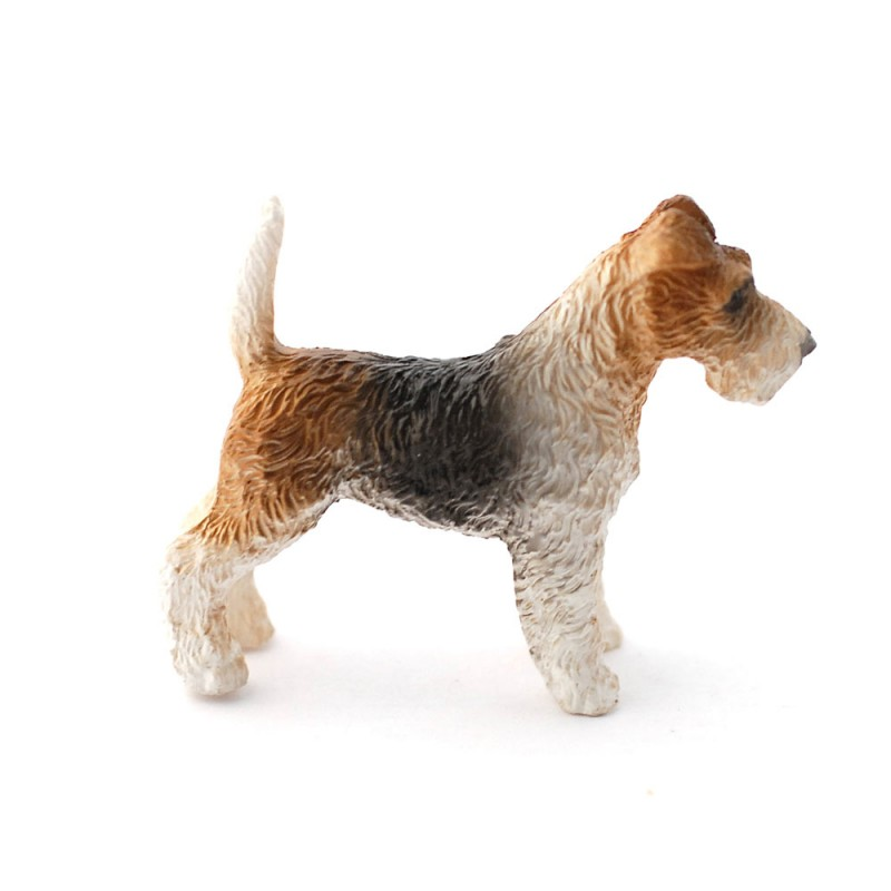 Dolls House Fox Terrier Standing Pet Dog Miniature 1:12 Scale Accessory