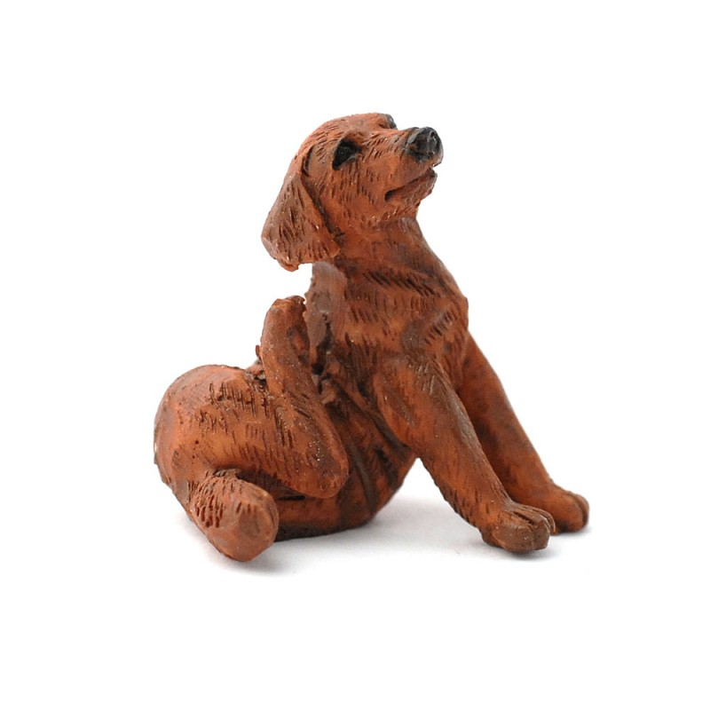 Dolls House Chocolate Labrador Scratching Pet Dog Miniature 1:12 Accessory